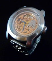 Skeleton custom watch manufactured in Fort Myers