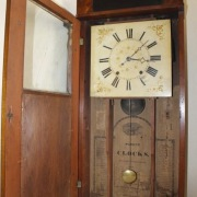 old Wall clock with wooden movement