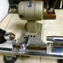 old manual watchmaking lathe